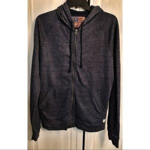 Lucky Brand American eagle and stars zip up hoodie